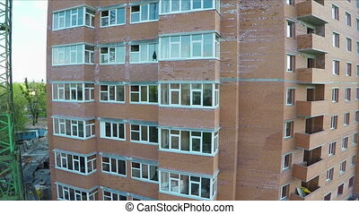 Building social housing - Multi-storey building structure...
