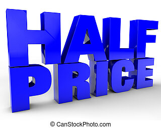 Half Price over white background