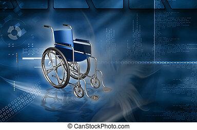 Wheel chair - Digital Illustration of wheel chair in colour...