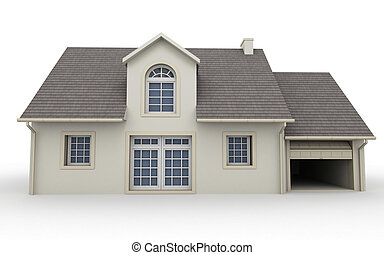 House rendering - 3D rendering of a classical house