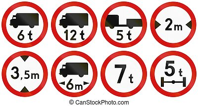 Limits In Poland - Collection of Polish traffic signs...