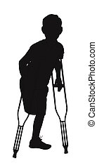 amputee in silhouette - silhouette of male amputee with loss...