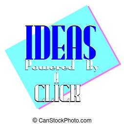 idea concept - fresh new idea concept background