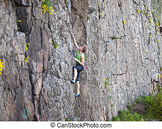 Man gets pleasure from life - A man has been climbing on the...