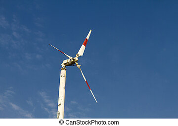 natural energy with blue sky - The turbine natural energy...