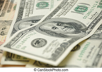 dollars - full frame hundred dollars background photo...