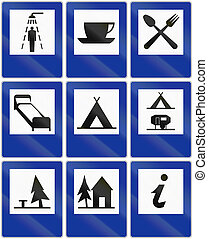 Information Signs In Poland - Collection of informational...