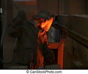 metallurgy 03 - steel founder at work