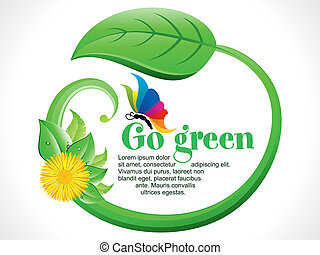 abstract go green background - abstract artistic go green...