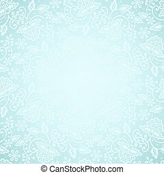 lace frame on blue background - Template for wedding,...