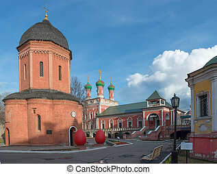 Cathedral of St. Peter (in the foreground). Vysokopetrovsky...