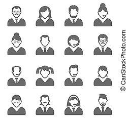 user icons - User Icons and People Icons with White...