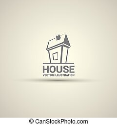 House abstract real estate logo design template - House...