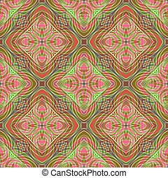 Abstract Colorful Curly Seamless Pattern