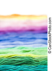 colorful yarn - colorful, multicolor cotton material texture...