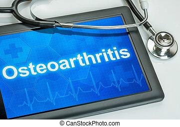 tableta, con, el, diagnóstico, Osteoartritis, en, el,...