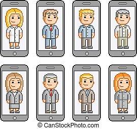 Pixel art collection smartphones