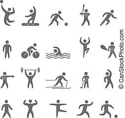 atletas, Siluetas, figuras