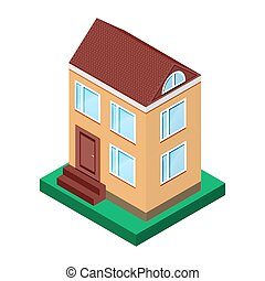 illustration of house with two floo