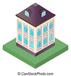 illustration of an old house with t