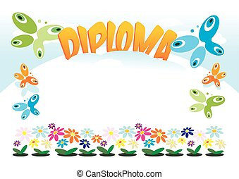 Diploma for Children - Diploma or frame for kids, girls,...
