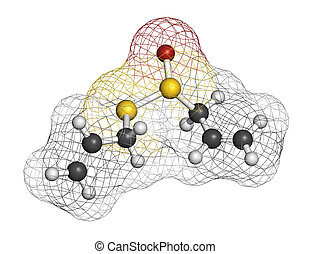 Allicin garlic molecule. Formed from alliin by the enzyme...
