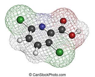 herbicida,  clopyralid, molécula