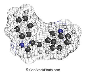 Diindolylmethane 3,3-DIM, DIM molecule Derivative of...