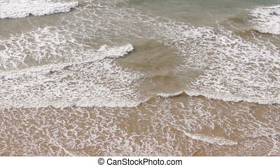 Waves Breaking Above Background - Western Algarve beach...