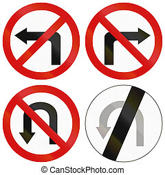 Turn Prohibitions In Poland - Collection of Polish traffic...