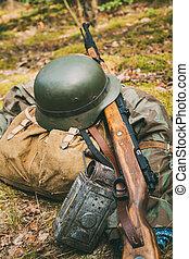 Alemán, militar, munición, de, mundo, guerra, II, en,...