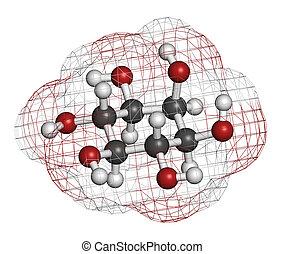 inositol (myo-inositol) molecule. Inositol and its...