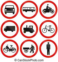 Prohibition Signs In Poland - Collection of Polish traffic...