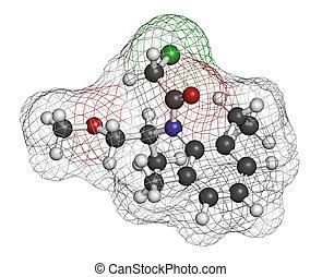 Metolachlor, herbicida, (weed, killer), molecule.,...