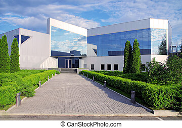 Corporate building in nature. - Front of a bussines building...