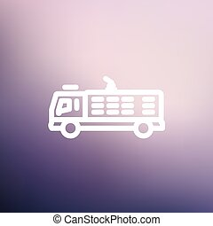 Fire truck thin line icon