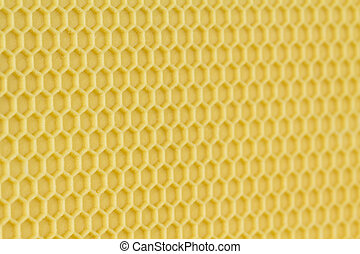 Bee keeping comb foundation background - Close up of new...