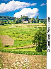 European landscape in Vojakovec village, Croatia