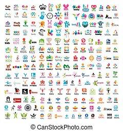 maior, cobrança, de, vetorial, logotipos, pessoas,