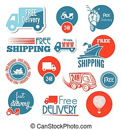 Shipping icons and labels