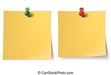 Note paper with pins
