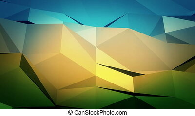 Low-Poly Background reminds landscape.