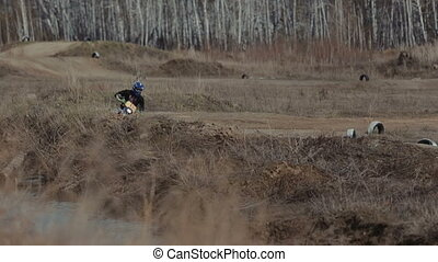 motocross bike ride - motocross bike and extreme man sport