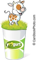 plastic container for yogurt  with