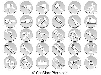 Set of tool icons