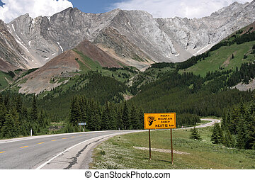 Canadian Rockies - Road in Rocky Mountains. Highwood Trail -...
