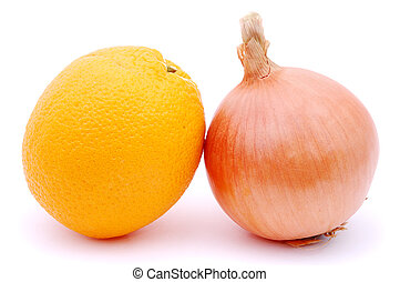 Sweet and bitter, orange and onion
