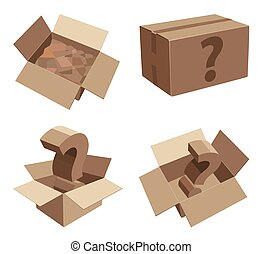 Packing cardboard boxes with unknown contents