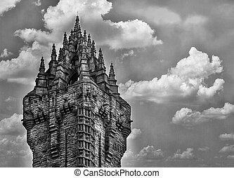 The Wallace Monument Close - A Close detailed shot of...