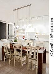 New kitchen in a modern home - Modern design kitchen with...
